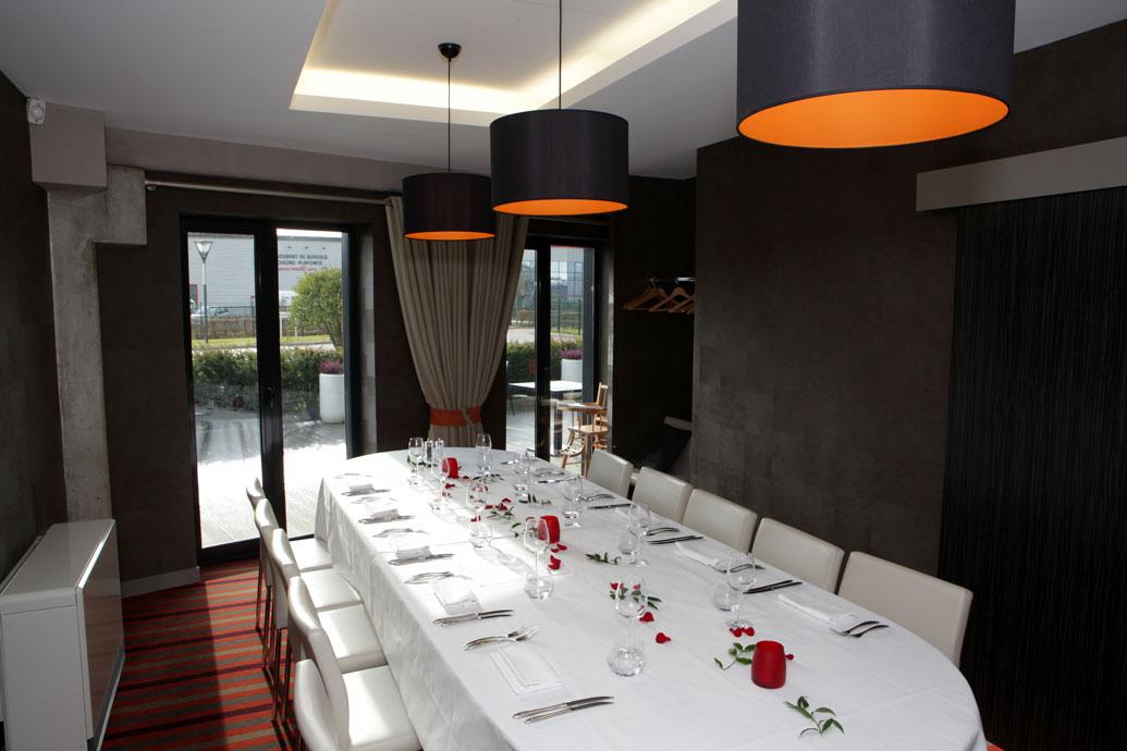 Le salon privé du restaurant L'Atelier de Jacques, brasserie Erisay