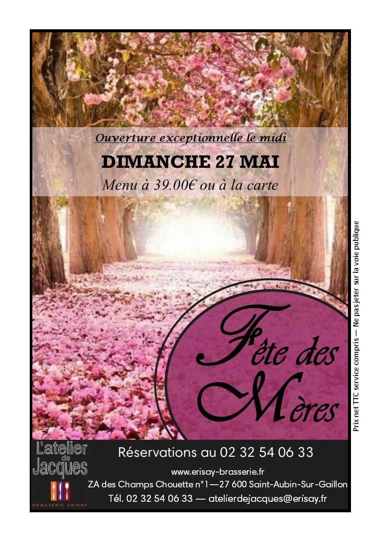 Dimanche 27 mai – Déjeuner fête des mères