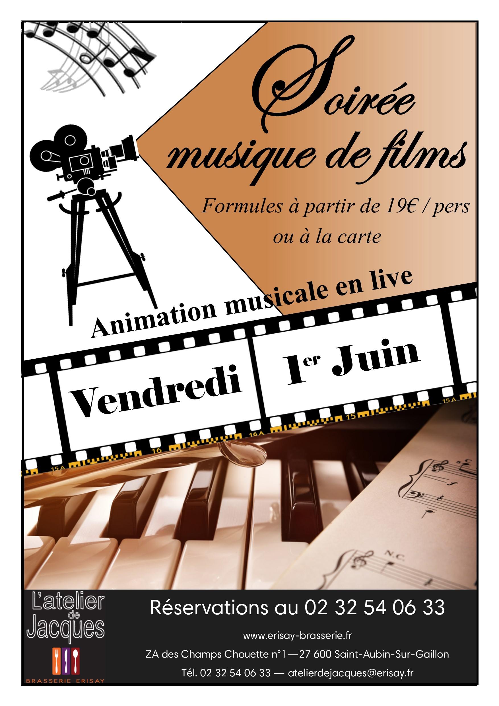 Vendredi 1er juin – Soirée Musique de films