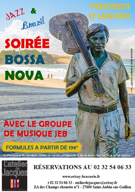 Soirée Bossa Nova Vendredi 17 Janvier
