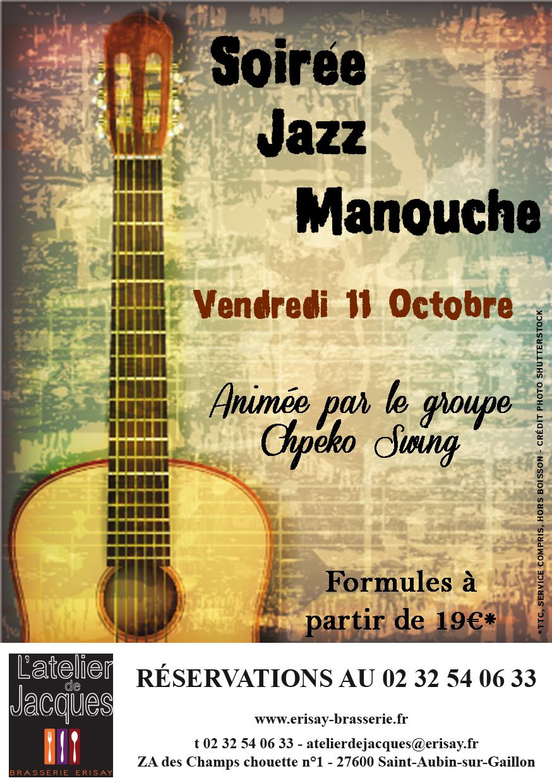 Soirée Jazz Manouche Vendredi 11 Octobre