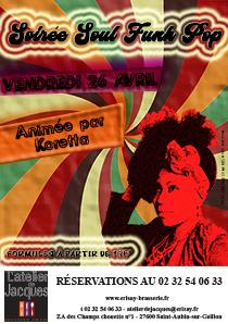 Soirée Soul Funk Pop Vendredi 26 Avril