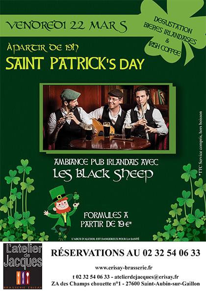 Soirée Saint-Patrick – Vendredi 22 Mars
